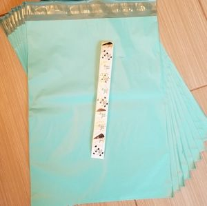 10 Teal Poly Mailers + 10 Thank You Stickers